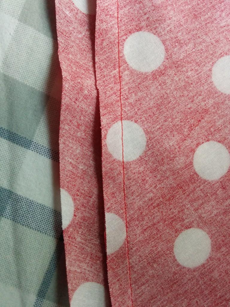 Hem ironed